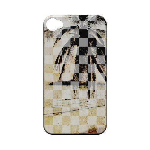 Palm Tree - Geeks Designer Line Checker Series Matte Case for Apple iPhone 4/4S