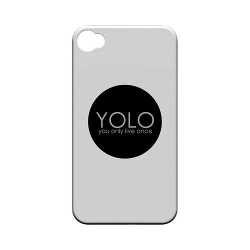 YOLO Circle - Geeks Designer Line YOLO Series Matte Case for Apple iPhone 4/4S