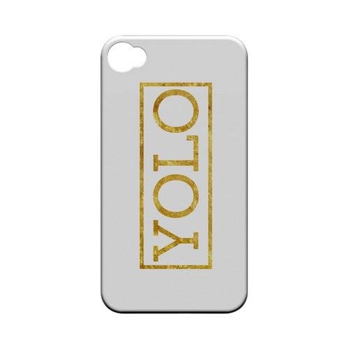Gold YOLO - Geeks Designer Line YOLO Series Matte Case for Apple iPhone 4/4S