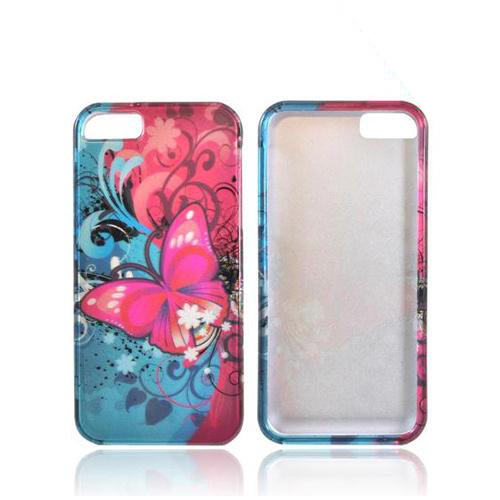 Apple iPhone 5/5S Hard Case - Hot Pink Butterfly Bliss