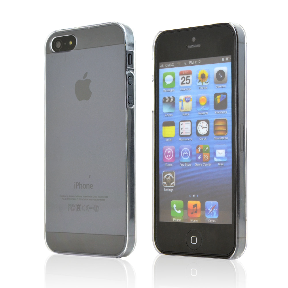 Transparent Clear Hard Case Back Cover for Apple iPhone 5/5S