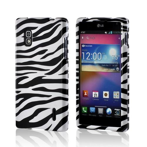 White/ Black Zebra Hard Case for LG Optimus G (AT&T)