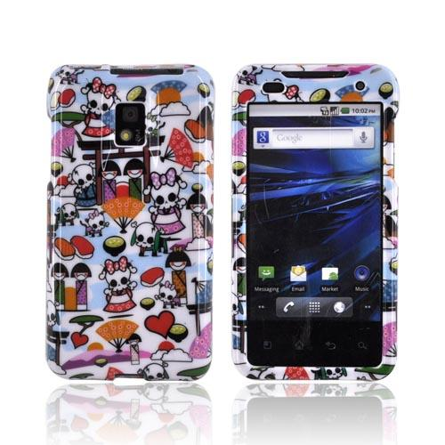T-Mobile G2X Hard Case - Kawaii Baby Skull Design on White