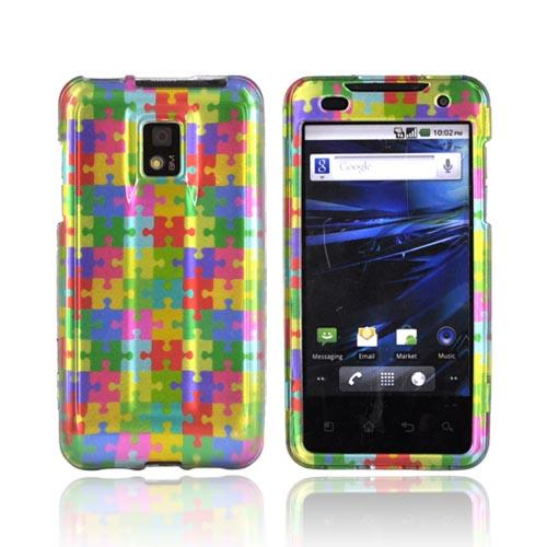 T-Mobile G2X Hard Case - Rainbow Puzzle Pieces