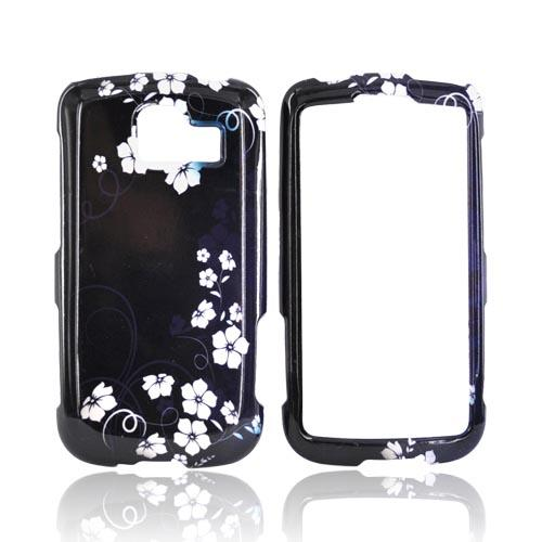 LG Optimus S LS670 Hard Case - Midnight Flowers on Black