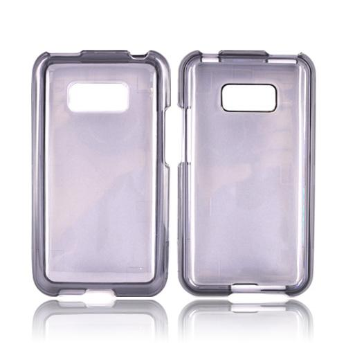 LG Optimus Elite Hard Case - Transparent Smoke