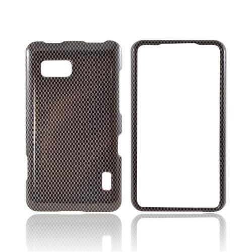 LG Mach Hard Case - Black/ Gray Carbon Fiber Design