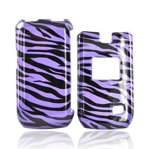 LG MN180 Hard Case - Purple/Black Zebra