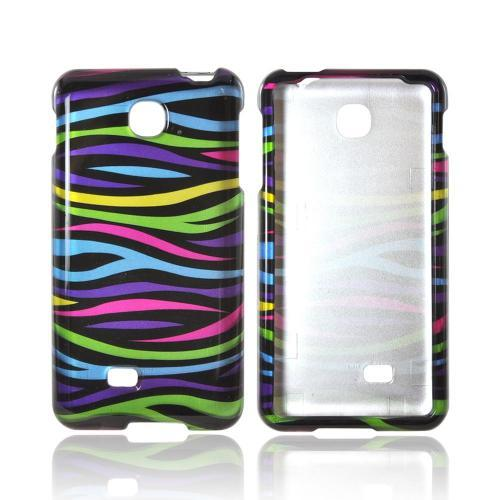 LG Escape Hard Case - Rainbow Zebra on Black
