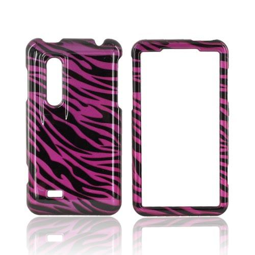 LG Thrill 4G Hard Case - Purple/ Black Zebra