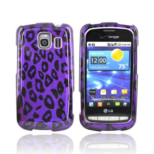 LG Vortex Hard Case - Purple/Black Leopard