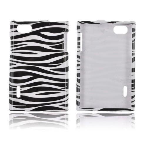 LG Optimus Vu VS950 Hard Case - Black/ White Zebra