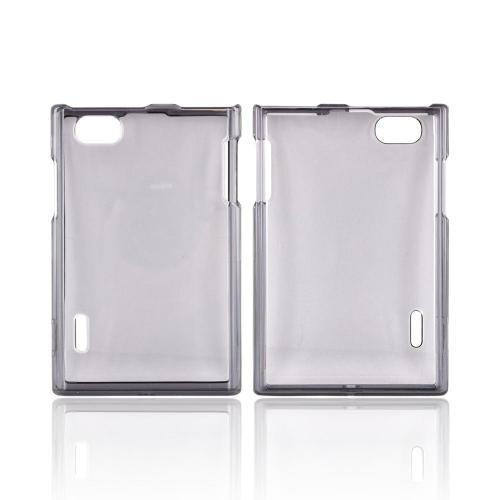 LG Optimus Vu VS950 Hard Case - Transparent Smoke