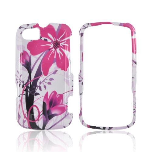 Motorola Admiral Hard Case - Pink Flower Splash on White