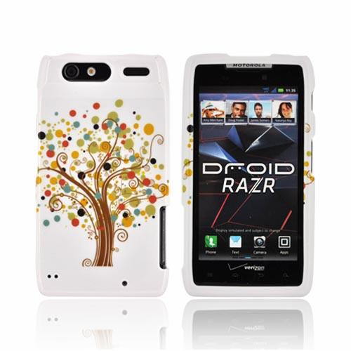 Motorola Droid RAZR Hard Case - Tree Design on White