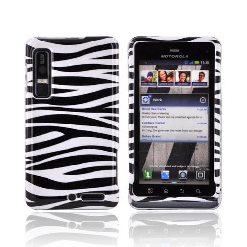 Motorola Droid 3 Hard Case - Black/ White Zebra