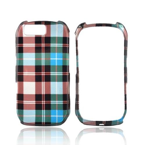 Motorola I1 Hard Case - Plaid Pattern of Blue, Brown, and Green