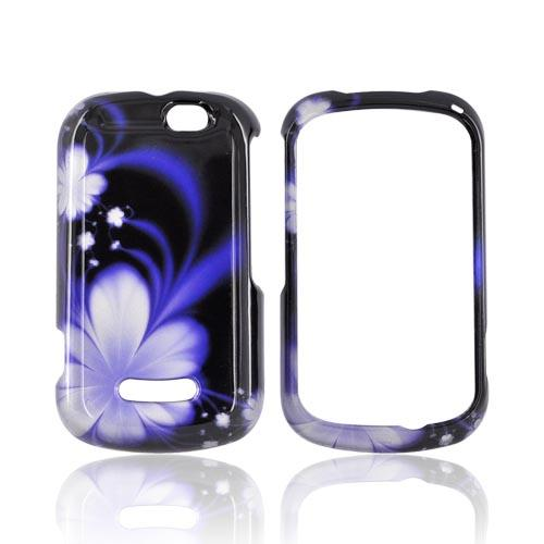 Motorola Clutch+ i475 Hard Case - Purple Flowers on Black
