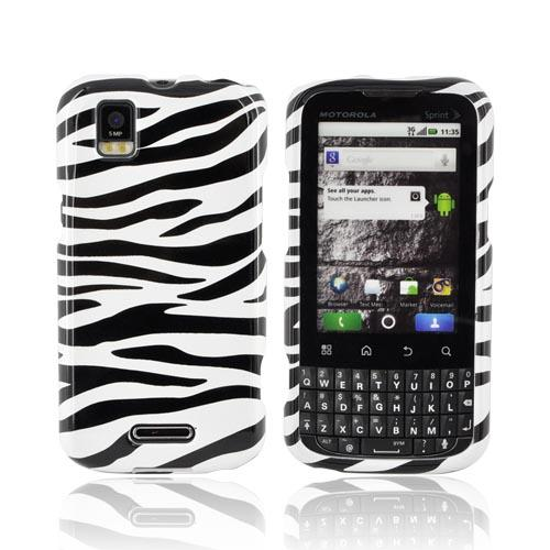 Motorola XPRT MB612 Hard Case - Black/ White Zebra