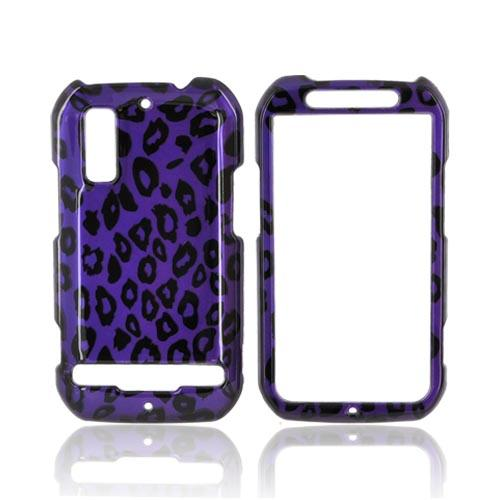 Motorola Photon 4G Hard Case - Purple/ Black Leopard