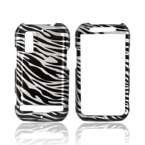 Motorola Photon 4G Hard Case - Silver/ Black Zebra