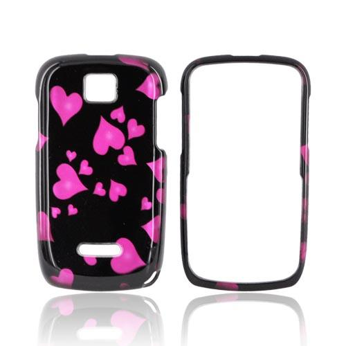 Motorola Theory Hard Case - Pink Raining Hearts on Black