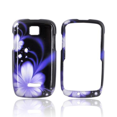 Motorola Theory Hard Case - Purple Flower on Black