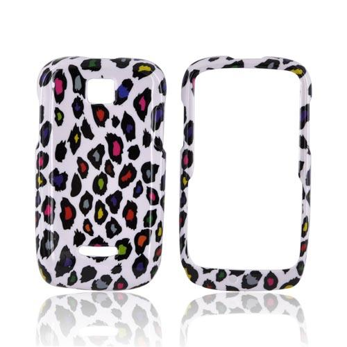 Motorola Theory Hard Case - Rainbow Leopard on White