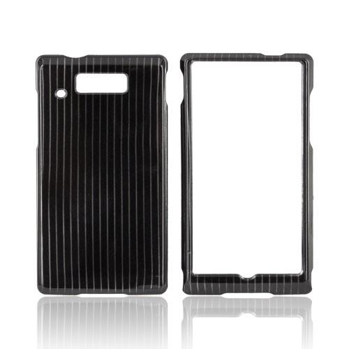 Motorola Triumph Hard Case - Silver Lines on Black