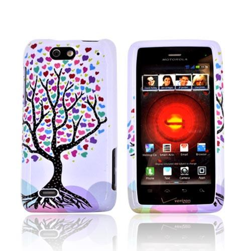 Motorola Droid 4 Hard Case - Love Tree on White