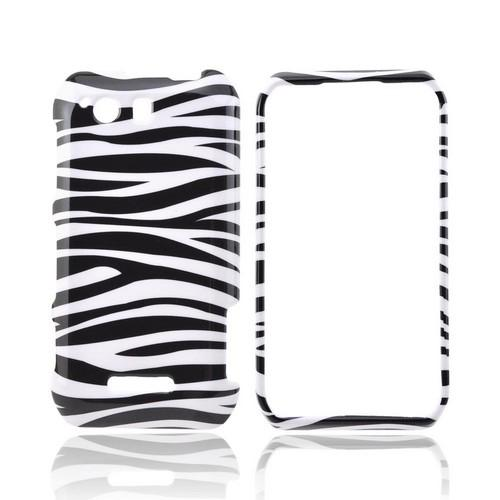 Motorola Photon Q 4G LTE Hard Case - Black/ White Zebra