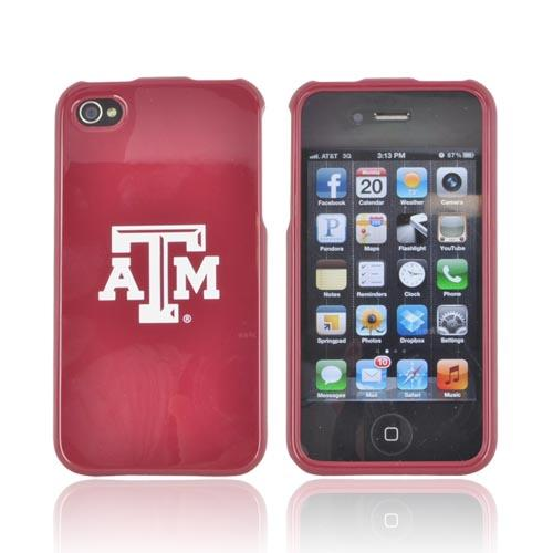 Texas A&M Aggies AT&T/ Verizon Apple iPhone 4, iPhone 4S Hard Case - Maroon