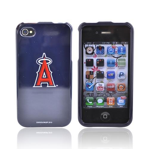 MLB Licensed AT&T/Verizon Apple iPhone 4, iPhone 4S Hard Case - Los Angeles Angels