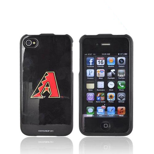 MLB AT&T/ Verizon Apple iPhone 4, iPhone 4S Hard Case - Arizona Diamondbacks