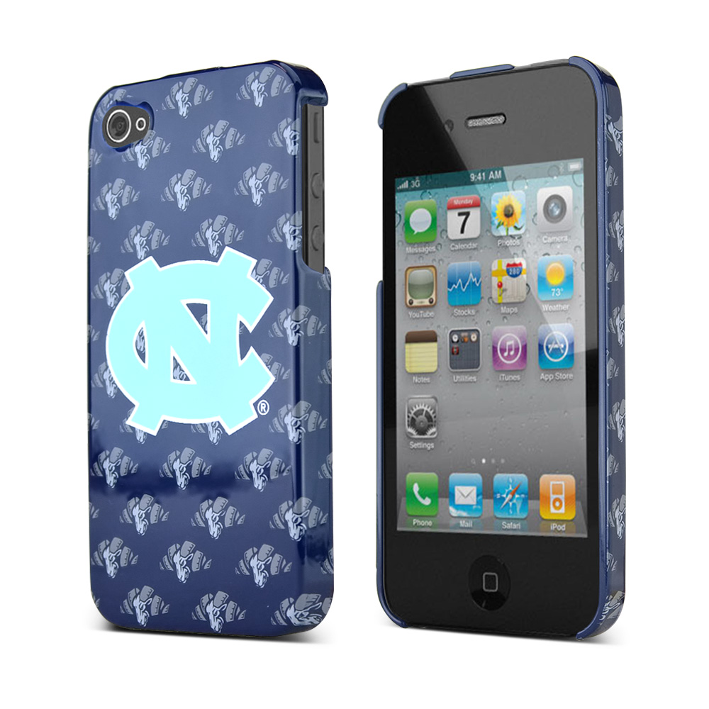 NCAA Licensed Apple Verizon/ AT&T iPhone 4, iPhone 4S Hard Case - North Carolina Tar Heels