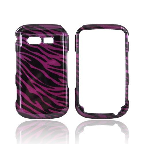 Pantech Caper Hard Case - Black Zebra on Purple