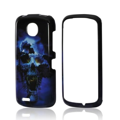 Blue Skull Hard Case for Pantech Marauder