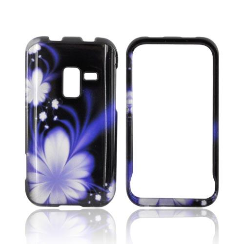 Samsung Conquer 4G Hard Case - Purple Flower on Black