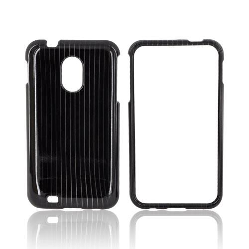 Samsung Epic 4G Touch Hard Case - Silver Lines on Black