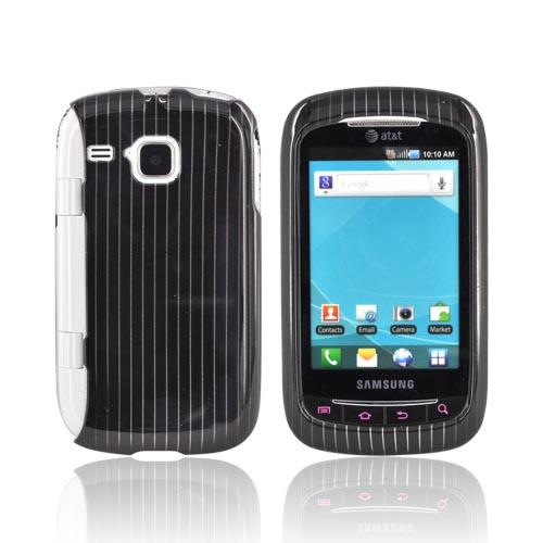 Samsung DoubleTime Hard Case - Silver Lines on Black
