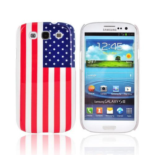 Samsung Galaxy S3 Hard Case - Red/ White/ Blue American Flag