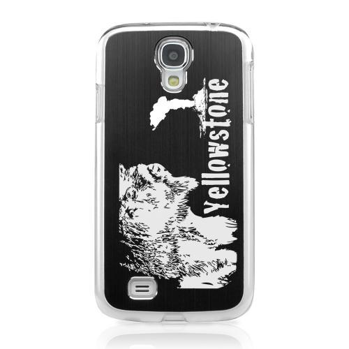 Yellowstone - Geeks Designer Line Laser Series Black Aluminum on Clear Case for Samsung Galaxy S4