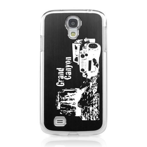 Grand Canyon - Geeks Designer Line Laser Series Black Aluminum on Clear Case for Samsung Galaxy S4