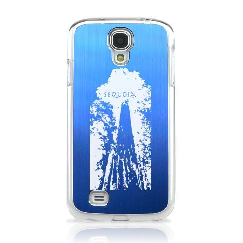 Sequoia Tree - Geeks Designer Line Laser Series Blue Aluminum on Clear Case for Samsung Galaxy S4