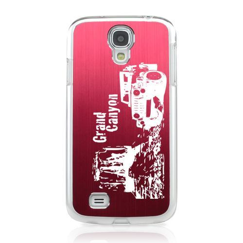 Grand Canyon - Geeks Designer Line Laser Series Red Aluminum on Clear Case for Samsung Galaxy S4