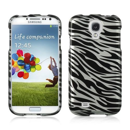 Silver/ Black Zebra Hard Case for Samsung Galaxy S4