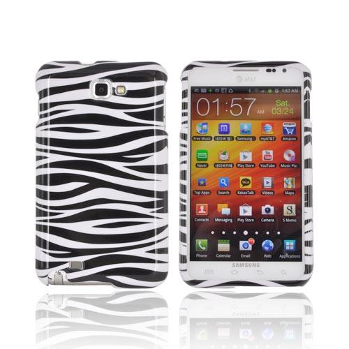 Samsung Galaxy Note Hard Case Cover - Black/ White Zebra