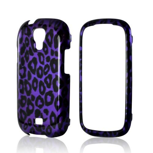 Purple/ Black Leopard Hard Case for Samsung Stratosphere 2