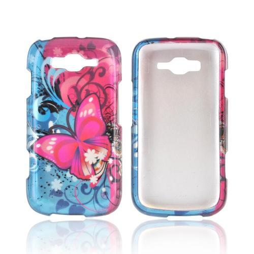 Samsung Focus 2 Hard Case - Hot Pink Butterfly Bliss