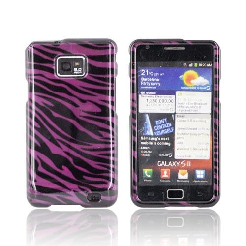 AT&T Samsung Galaxy S2 Hard Case - Purple/ Black Zebra